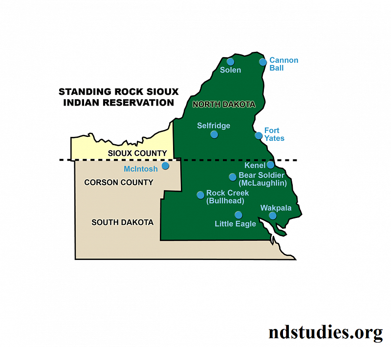 standing rock indian reservation - 800×710